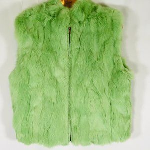 Rabbit Vest Zip front NEON Size XL Green